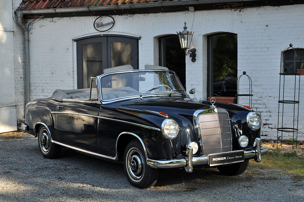 mercedes benz 220 s cabrio w 180 classic sterne. Black Bedroom Furniture Sets. Home Design Ideas