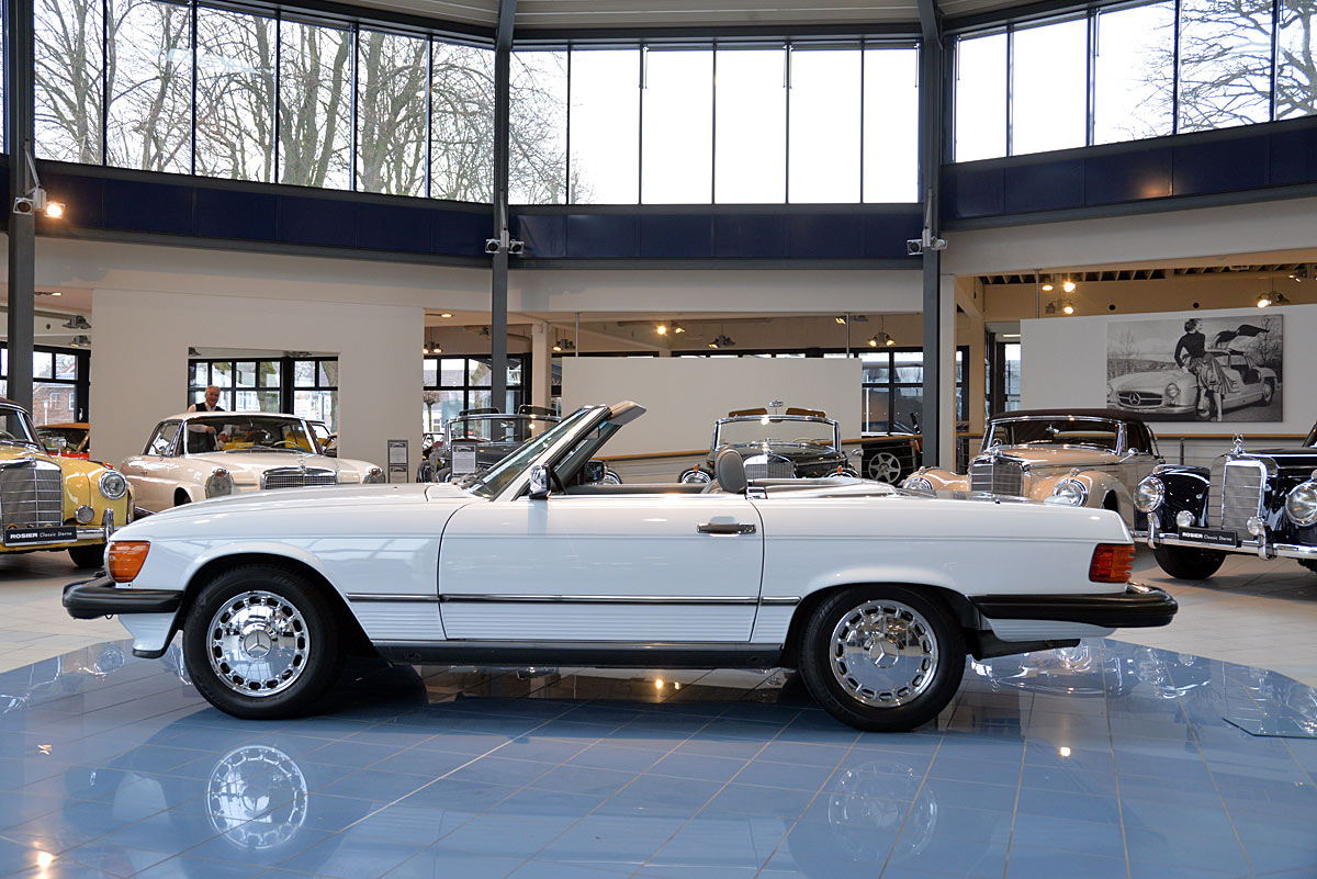 Mercedes benz 560 sl roadster r107 classic sterne for Mercedes benz sl classic