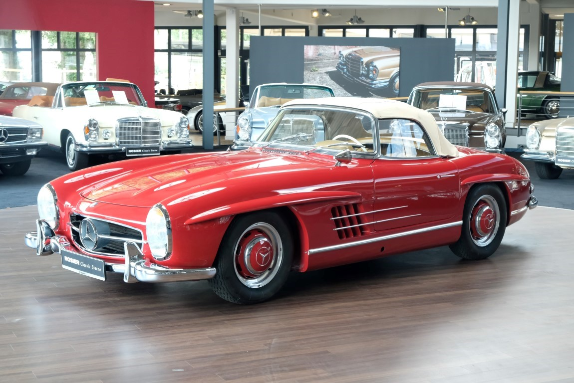 mercedes benz 300 sl roadster w 198 classic sterne. Black Bedroom Furniture Sets. Home Design Ideas